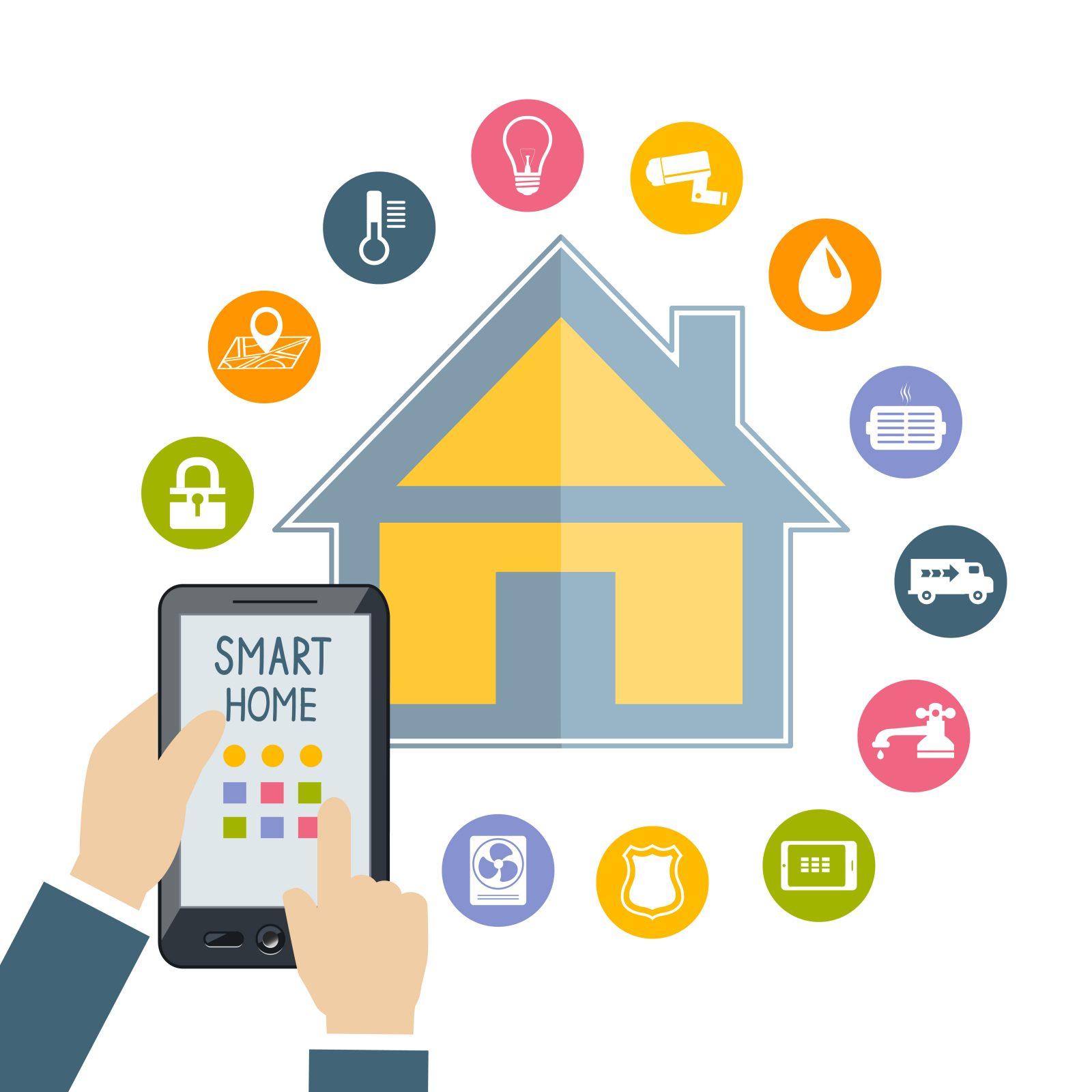 خانه هوشمند ساده - خانه هوشمند بی سیم - wireless - مانیتورینگ مرکزی