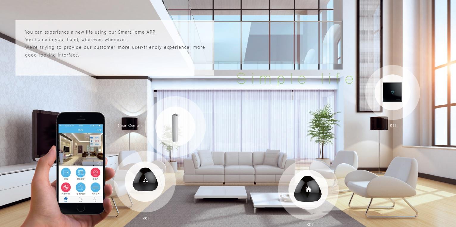 خانه هوشمند ساده - کلید لمسی - کلید هوشمند بی سیم