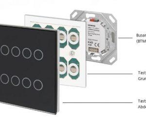 Siemens-KNX-Tastsensor-Glas-Aufbau